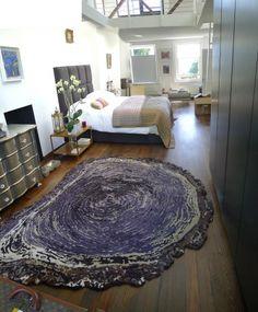 SonyaWinner wood slice rug..