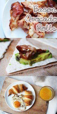 Easy 3 ingredient bacon avocado rolls.