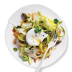 Shaved Asparagus Salad with Manchego and Almonds | CookingLight.com #myplate, #veggies, #protein