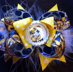 OTT Despicable Me minions bow by DoubleHBowtique on Etsy, $12.00