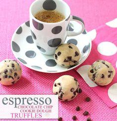 Espresso Chocolate Chip Cookie Dough Truffles