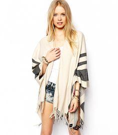 blanket cape, stripe blanket