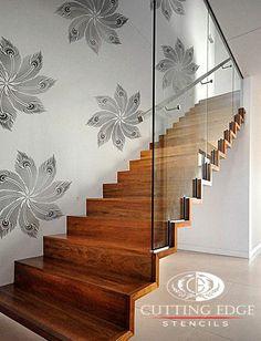 Peacock Headdress stencil! http://www.cuttingedgestencils.com/peacock-feather-stencil.html