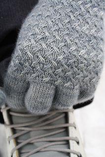Lanark Pattern - grey gloves