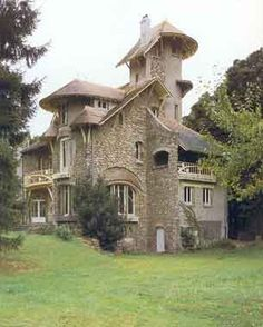 Manoir Style, Art Nouveau Home in the Paris region of France by Hector Guimard - dates from 1904. 6 bedrooms + housekeepers separate quarters. The home contains its' original architectural features such as fireplaces, moldings, floors, fenestrations etc.