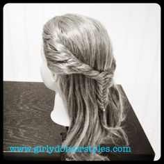 Girly Do Hairstyles: By Jenn: Fishtail Twisted Pull Back