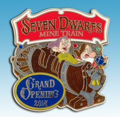 We're celebrating the new Seven Dwarfs Mine Train attraction rolling into Walt Disney World® with this limited release pin. The pin will be available Thursday at 10am PDT (1:00pm EDT).