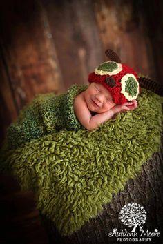 Baby Boy Hat Very HUNGRY CATERPILLAR  Newborn Baby Boy Crochet Caterpillar Hat and Cocoon