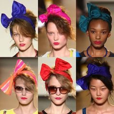 Designer work inspired by 1980s fashion- Marc Jacobs 2009 collection showed heavy inspiration from the 1980s. Pictured are the hair bows featured in a fashion show