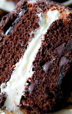Oreo Cake Recipe ~ A rich double chocolate layer cake with two layers of Oreo cookies inside, a thick cream filling, chocolate buttercream, and an Oreo cookie crumb coating... For extreme chocolate and Oreo lovers!