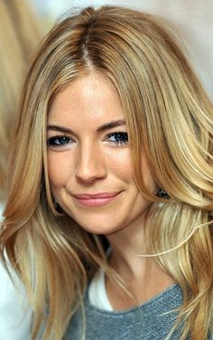 hair colors, sienna miller, blonde highlights, blondes, wave, hair makeup, hairstyl, beauty, natural looks