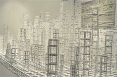 Floating City Paper Sculpture by Katsumi Hayakawa  Photo by Johnny
