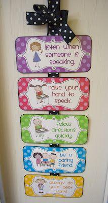 class rules polka dot theme freebie