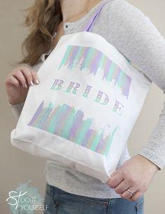 easi silkscreen, silkscreen tote, 12monthsofmartha, bride totebag, brides