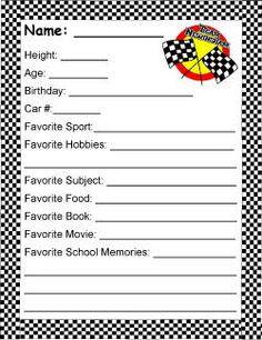 Great race car themed ideas.