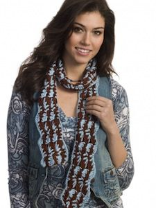 Earth and Sky Scarf - This thin crocheted scarf is a perfect pattern for spring!