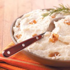 Caramelized Onions in Mashed Potatoes