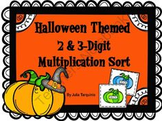 Halloween Themed Math Multiplication Sort (2&3-Digit Numbers) from TeacherJuliasResources on TeachersNotebook.com -  (10 pages)  - Use this Halloween themed math sort to celebrate the holiday in your classroom!