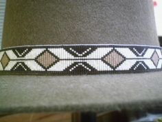 Rolling Thunder Medicine Man Beaded Hat Band~Replica of beaded hatband | ajwhatbands - Accessories on ArtFire
