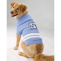 NCAA University of North Carolina Pet Sweater, Small
