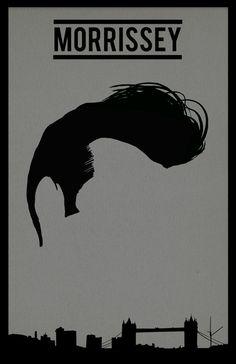 Morrissey The Smiths Band Poster Illustration 11 x 14 Original Print