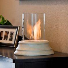 Real Flame Mediterranean Sandstone Personal Gel Fuel Fireplace $65