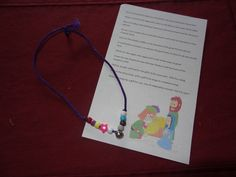 Christmas story bracelet and poem
