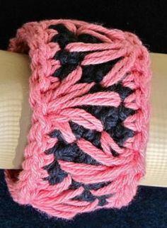 cool crochet bangle idea
