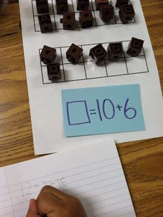 Here's a nice idea for practicing addition facts with ten frame mats.