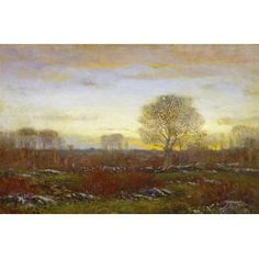 Dwight William Tryon, Twilight, 1918-1919, oil on panel, Dallas Museum of Art, bequest of Joel T. Howard