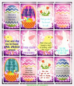 Free printable Easter egg hunting clues