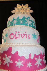 Winter ONEderland Cake (Snowflake Cake)