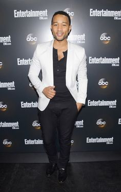 John Legend, love the top and jacket..not the pants.