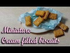 Cute & Simple Cream Filled Miniature Biscuit/Cookie - Polymer Clay Tutorial - YouTube