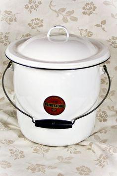 Vintage Enamelware Chamber Pot