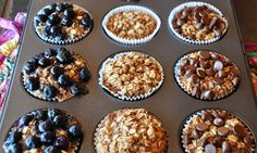 A LA GRAHAM: INDIVIDUAL BAKED OATMEAL CUPS- CLEAN EATING - this one is better than the original pin