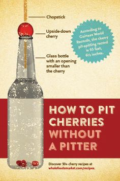 Want a simple way to pit cherries?