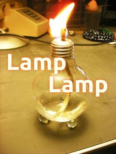 Used Light Bulb Oil/Alcohol Lamp #lighting #decoration #upcycle #reuse