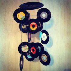 DIY record chandelier!