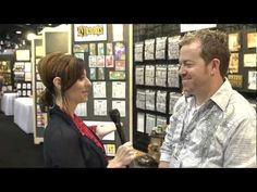 Tim Holtz shows his new Stampers Anonymous products at CHA 2013.