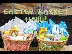 Easter Basket Haul  #brooklynandbailey #easter #basket