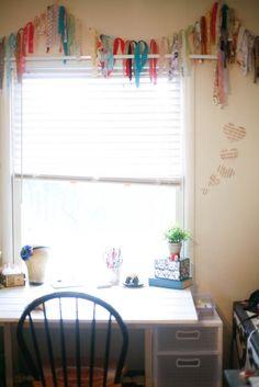scraps of fabric curtains