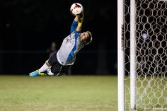 #Elon men's soccer goalkeeper Nathan Dean makes a sensational stop during a six-save performance that propelled the Phoenix past No. 9 Wake Forest.