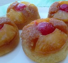 Pineapple Upside-down Cupcakes. Yum! :D