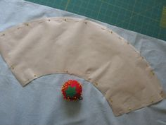 Instructions for covering a lampshade with fabric