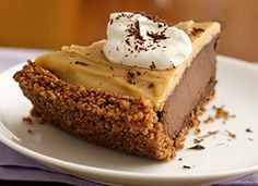 Double Chocolate-Peanut Butter Pudding Pie from Chex.com - Home of General Mills' Chex Cereals and the Original Chex Party Mix
