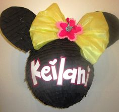 Yellow Bow Minnie Mouse Custom Pinata Personalized by PinataMama, $75.00 #theminniecollection