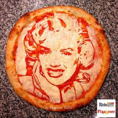 Marilyn Monroe Pizza by Domenico Crolla. See more pizza art by clicking this photo.