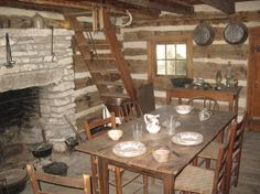"""Check out """"Inside the log cabin"""" pictures and other great photos of Dallas, Texas and nearby locations submitted by travelers at IgoUgo."""