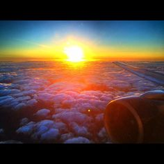 Sunset flying into Ft. Lauderdale. From one our traveling cameramen, Dwaine!